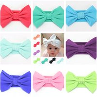 Wholesale multi color hair extension for sale - Multi Color Baby Kids cute Big Bow Headband Hairband Stretch Turban Knot Head Wrap Bands Headwear