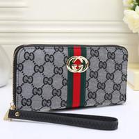 mann große brieftasche großhandel-Männer Frauen Leder Brieftasche Neue 3A + Qualität Berühmte Große Designer Clutch Bag Handtasche Schulter Umhängetasche Geldbörse