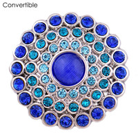 Wholesale Copper Ball Pins - Rivca Flower inserts convertible alloy Rhinestone magnetic Brooch For women fit antique Scarf Clip Vintage Muslim pin Brooches for party