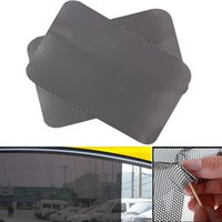 Wholesale car door protection film - 63cm x 42mm 2Pcs Per Set PVC Car Auto Accessories Curtain Windshield Sticker Sun shade UV Protection Side Window Film
