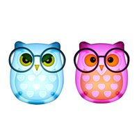 Wholesale Animal Lamps For Kids - LED Plug-in Night Light for Kids Led Animal Nightlight Auto Control Sensor Lamp Owl shaped Wall Lamps Kids Baby Soft Lights Bedroom Lighting