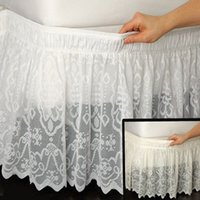 Wholesale queen size beds free shipping for sale - Lace Princess Without Bed Surface Elastic Band Bed Skirt Twin Full Queen King Size cm Height Bedspread