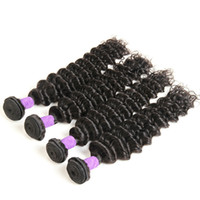Wholesale human hair wefts deep waves for sale - 8A Deep Wave Peruvian Human Hair Bundles Bundles Natural Color Hair Extension Wefts