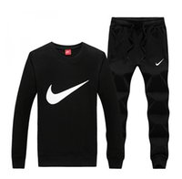 Wholesale clothing weaving online - IKE Brand new Designer Tracksuit Spring Autumn Casual Unisex Brand Sportswear Track Suits High Quality Hoodies men s Clothing