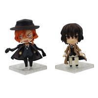 Wholesale frozen freeze dolls resale online - 9cm Bungo Stray Dogs Nendoroid Osamu Dazai Nakahara Chuya Cartoon PVC Action Figure Collectible Model Toys Doll