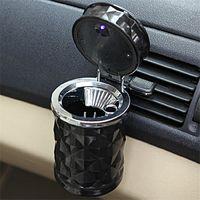 Wholesale cigarette ashtrays car - Luxury Car Accessories Portable LED Light Car Ashtray Universal Cigarette Cylinder Holder Car Styling Mini carro cinzeiro