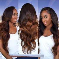 Wholesale Remy Hair Closure Piece - Ombre Human Hair Weave Bundles with Closure 3 Tone Blonde 1B 4 30 Ombre Brazilian Body Wave Human Hair Extensions with 4x4''Closure