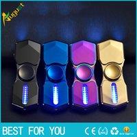 Wholesale electronic gyro for sale - Group buy Hot sale toy Electronic Handspinner USB Charging Metal Cigarette Fingertip Gyro Heat Wire Lighter Finger HandSpinner LightersSpinner
