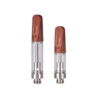 toner cartridges venda por atacado-Ponta de madeira de Cerâmica Atomizador 510 Rosca Cartucho de Toner Co2 Vape Cerâmica Ponta Vazio De Vidro Tanque De Fumar
