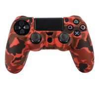 Wholesale playstation accessories for sale - high quality PS4 Accessories Durable Camouflage Camo Silicone Gel Guards sleeve Skin Grips Cover Case Caps For Playstation PS4 Pro Slim