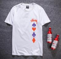 Wholesale Women T Shirts Beads - 2018 Hip hop t shirt compression graffiti shirt men cotton O-neck couple t shirts streetwear mens t shirts with prints woman clothing summer