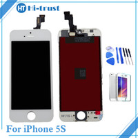 Wholesale Iphone 5s Replacement Screen White - 1 Pcs Good Quality LCD Touch Screen Digitizer & Assembly Replacement For iPhone 5s Screen black white color With Tools & Free Shipping