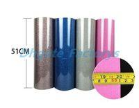 Wholesale heat glitter vinyl online - 50cm cm Glitter Heat Transfer Vinyl With Sticky Back Metallic Transfer Vinyl From Colors