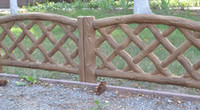 Wholesale garden cement - Wood Texture Fence Cement Mold Maker For Your Garden Concrete Yard Fence Decoration Tool