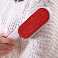 neue helle haarentfernung großhandel-Anti Staubbürste Weiß Double Red Sided Statische Kleidung Pinsel Licht Stil Reinigungstuch Haarentfernung Werkzeuge Neue Ankunft 1 4jj Z