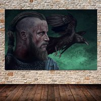 Wholesale framed art deco painting resale online - Home Decoration Vikings Oil Painting HD Print on Canvas Modern Deco Wall Art No framed
