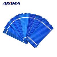 mini painéis solares para telefones venda por atacado-Painel de silicone AIYIMA 100 pcs Mini Painel de 52 * 22mm Policristalino Silício painéis Solares 0.19 w 0.5 v / DIY Celular Bateria de Carregamento