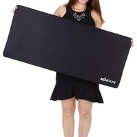 Wholesale desk edge resale online - Large Size mouse pad Anti slip Natural Rubber PC Computer Gaming mousepad Desk Mat with Locking Edge size mm