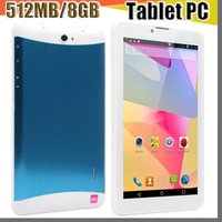 Wholesale E tablet pc inch G Phablet Android MTK6572 Dual Core MB GB Dual SIM GPS Phone Call WIFI Tablet PC cheap china phones B PB