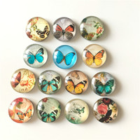 crystal butterfly stickers Canada - Free shipping (14pcs lot)Various Butterfly Crystal Glass fridge magnet Cartoon animal message sticker Kitchen home Decor