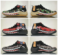 Wholesale Shark Rubber - 2018 Dame 4 Shoes Camo Pack footwear shark black camouflage green apes Sneakers for Men Women,Wholesale Dame Lillard Basketball Shoes