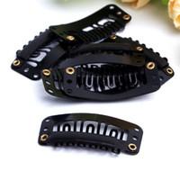 Wholesale wholesale snap clips hair extensions - New Arrive U Shape Snap Clips for Hair Extensions wig,snap clip,single clip,wig clip 32MM