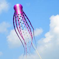Wholesale kite ship resale online - m single Line Stunt purple Parafoil Octopus POWER Sport Kite A