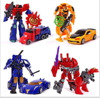 Wholesale toy truck puzzles online - 30pcs Educational Toy for boys Transformer Toys Robot Puzzle Children new model toy Christmas gift With Weapon for over years kids
