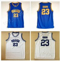 Wholesale college sport teams - Punahou 23 Barack Obama Jersey Men High School College Obama Basketball Jerseys Cheap Team Blue Color White Away Breathable For Sport Fans