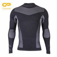 sudadera ajustada al por mayor-Codysale Fitness Tops Tees para Hombres Camisas de Compresión Térmica de Manga Larga Skinny Tight Base Layers Sudadera Crossfitfit