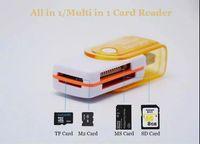 lector usb m2 al por mayor-Todo en 1 conector de adaptador de lector de tarjeta de memoria USB 2.0 para Micro SD MMC SDHC TF M2 Memoria MS Duo RS-MMC