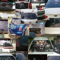 vinyle film de maille achat en gros de-gros 127cmx 70cm arrière Pare-brise Decal Stickers Mesh Film One Way vinyle voiture lunette arrière en verre imprimé photographique Film Tint