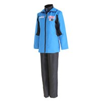 Wholesale Ice Man Costume - full suit YURI on ICE Katsuki Yuri Cosplay Costume Men Sport Suit Sportwear Outfit Blue Jacket+Black Top+Black Pants Full Set