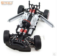 model military vehicle Canada - 1.16 Remote Control RC Drift Car Model 4WD Upgrade Alloy Car Frame Parts Brushless Double Servo