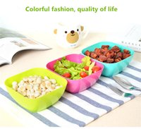 Wholesale Wholesale Square Dishes - Wholesale Food grade plastic square fruit plate salad bowl melon fruit plate small snack candy dish dried fruit bowl