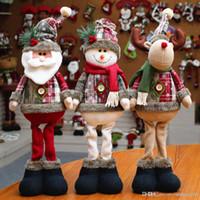 weihnachtsschnee weihnachtspuppen großhandel-Weihnachtsmann Schneemann Elch Puppe Weihnachtsdekoration Xmas Tree Decent Ornaments Wohnkultur # 244