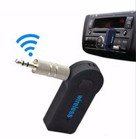 Wholesale hands free cars iphone for sale - Universal mm Bluetooth Car Kit A2DP Wireless FM Transmitter AUX Audio Music Receiver Adapter Hands Free With Mic For Iphone Samsung