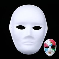 Wholesale painting masking paper resale online - DIY Hand painted Mask Full Face Environmental Paper Pulp Masks Art Painting Masks for Masquerade GSBear provided