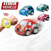 Wholesale car battery cables - Hot Mini Gravity Sensing hand band remote control 4CH RC Car Gesture Control Cars with Wearable Watch Controller 4 Colors Remote Control Car
