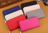 Wholesale Cheap Browning Wallets - Hot! wholesale 2017 famous brand fashion single zipper cheap luxury designer women pu leather wallet lady ladies long purse
