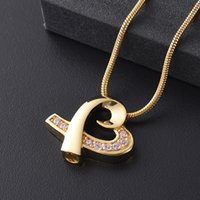 Wholesale gold bow tie necklace for sale - Group buy IJD8387 Crystal Inaly Bow tie Heart Stainless Steel Memorial Urn Jewelry Keepsake Cremation Pendant Necklace for ashes as Women
