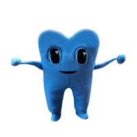 trajes de dentes venda por atacado-New Blue Tooth Traje Da Mascote Trajes Da Mascote Para Adultos Natal Halloween Outfit Fancy Dress Suit Frete Grátis