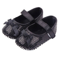 585ee64471491 Wholesale baby bling shoes wholesale for sale - Baby Girl Bling Sequined Shoes  Bow Decor Black