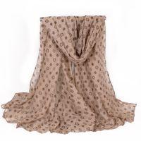 Wholesale Lightweight Fashion Scarves - Lightweight Soft Women Scarf Winter Warm Fashion Leopard Printing Polyester Coffee Thick Shawls Scarf Plus 180*100cm