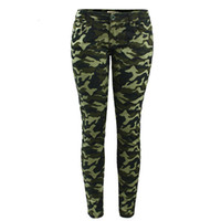 83eeb84de0b8b Womens S-XXXXXL Plus Size Chic Camo Army Green Skinny Jeans for Women  Female Camouflage Cropped Pencil Pants
