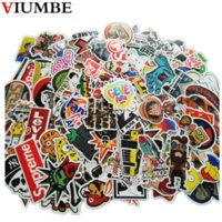 Wholesale vinyl guitar decals - 100 PCS   Pack New Car Stickers Skateboard Guitar Travel Case bicycle motorcycle sticker Car decal individuality fashion sticker