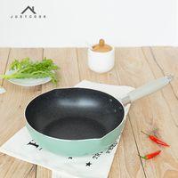 ingrosso cucina woks-Justcook 10 pollici padelle antiaderenti No Oil-Smoke 24 Cm Wok Utensili da cucina uso generale per gas e piano cottura a induzione