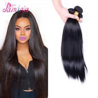 insan saçı filipino toptan satış-PAMINA Filipinli Bakire Saç Düz 3 adet Annabelle Saç 8A Işlenmemiş Bakire Filipinli Insan Saç Dokuma Doğal Renk içinde Boyanabilir 8 ~ 30