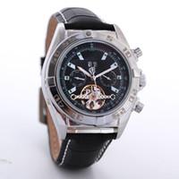 grandes montres de genève achat en gros de-Hommes de luxe en acier inoxydable grand cadran geneva montre chronographe automatique montres mécaniques montre-bracelet Livraison gratuite