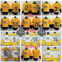 Wholesale Ryan White - Man Youth Women Nashville Predators Jersey Stanley Cup Filip Forsberg Mike Fisher Pekka Rinne Roman Josi PK Subban Ryan Johansen Hockey Kids